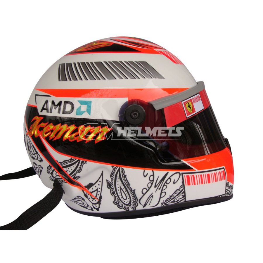 KIMI RAIKKONEN 2008 MONACO GP F1 REPLICA HELMET FULL SIZE