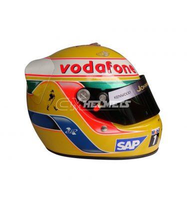 LEWIS HAMILTON 2009 SILVERSTONE GP F1 REPLICA HELMET FULL SIZE