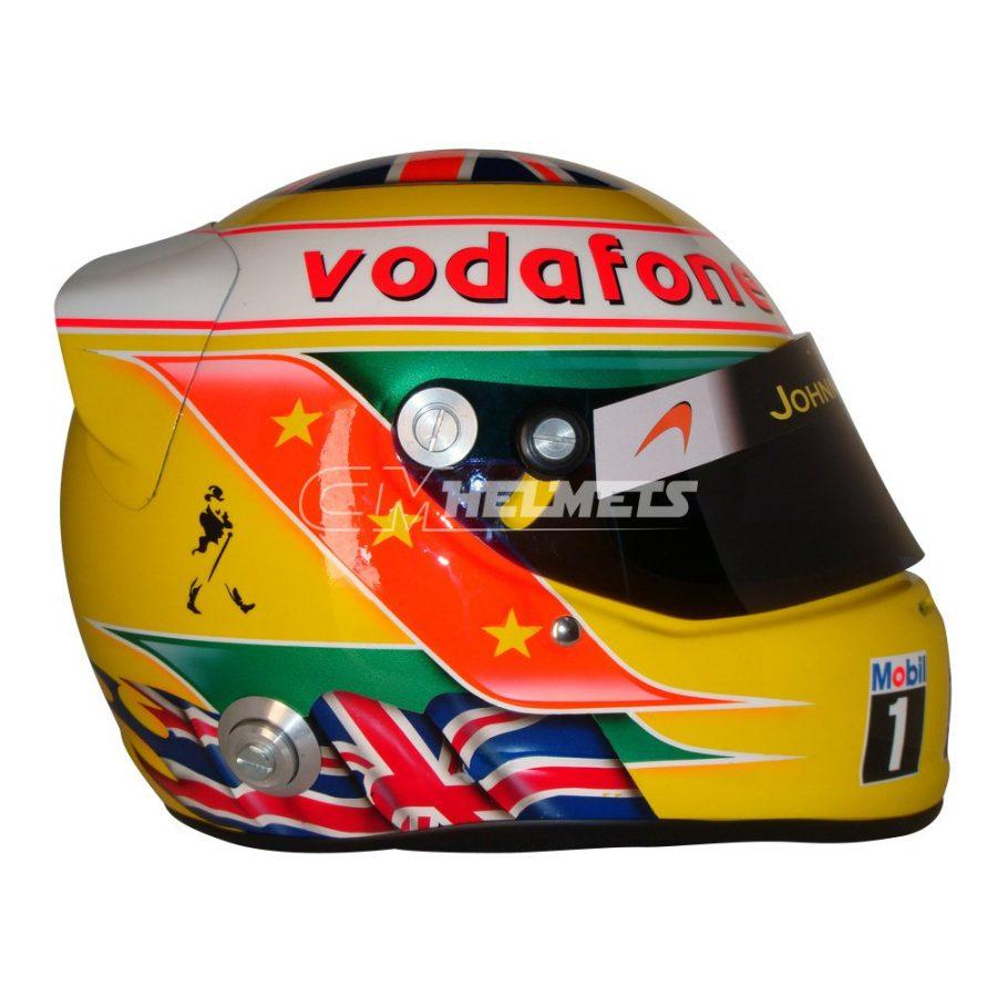 LEWIS HAMILTON 2010 SILVERSTONE GP F1 REPLICA HELMET FULL SIZE