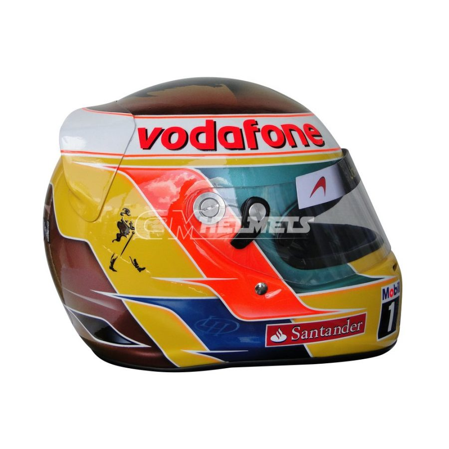LEWIS HAMILTON 2011 INDIAN GP BOB MARLEY TRIBUTE F1 REPLICA HELMET FULL SIZE