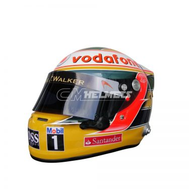 LEWIS HAMILTON 2011 INTERLAGOS GP F1 REPLICA HELMET FULL SIZE