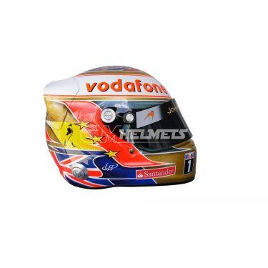 LEWIS HAMILTON 2012 SILVERSTONE GP F1 REPLICA HELMET FULL SIZE