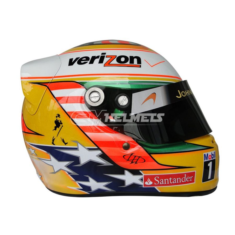 LEWIS HAMILTON 2012 USA TEXAS GP F1 REPLICA HELMET FULL SIZE