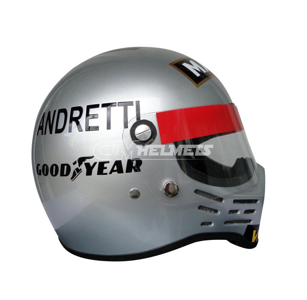 MARIO ANDRETTI 1978 WORLD CHAMPION SIMPSON BANDIT F1 REPLICA HELMET FULL SIZE