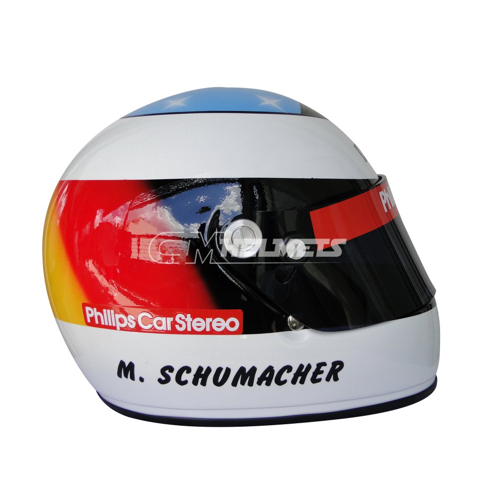 MICHAEL SCHUMACHER 1991 F1 REPLICA HELMET FULL SIZE - CM ...