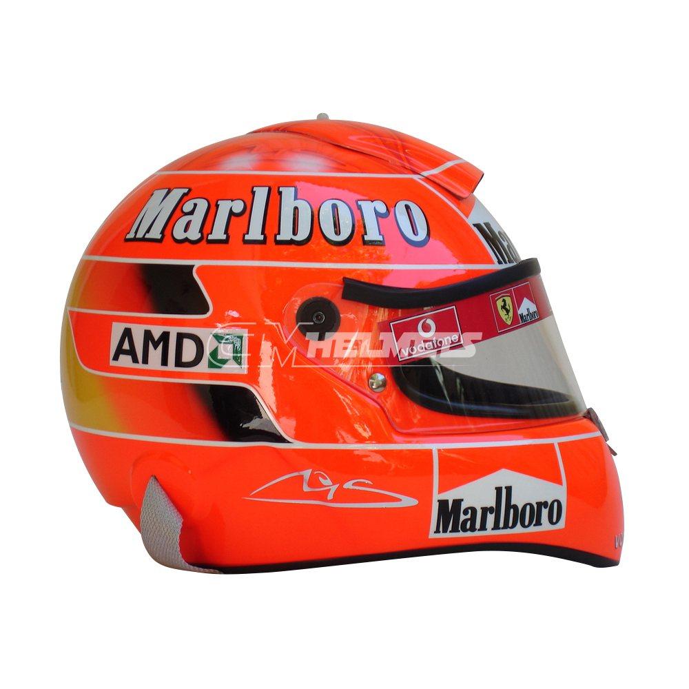 MICHAEL SCHUMACHER 2005 F1 REPLICA HELMET FULL SIZE