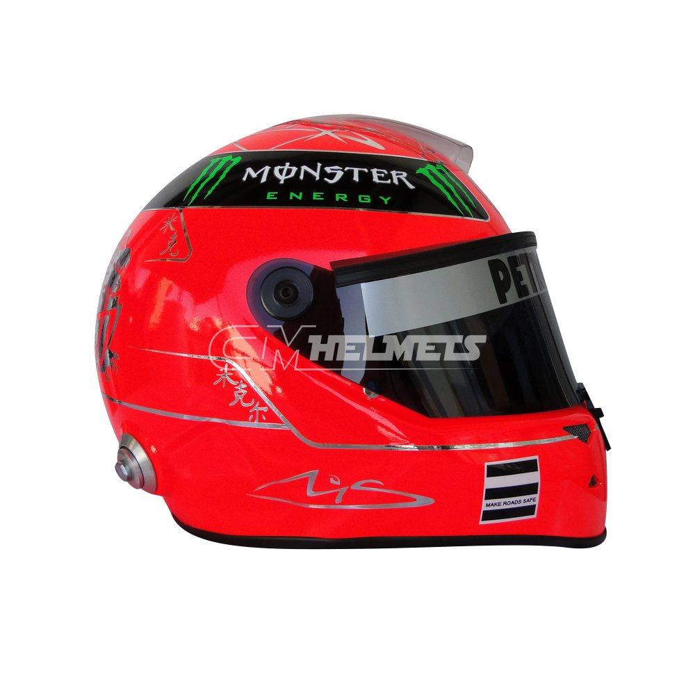 MICHAEL SCHUMACHER 2011 F1 REPLICA HELMET FULL SIZE