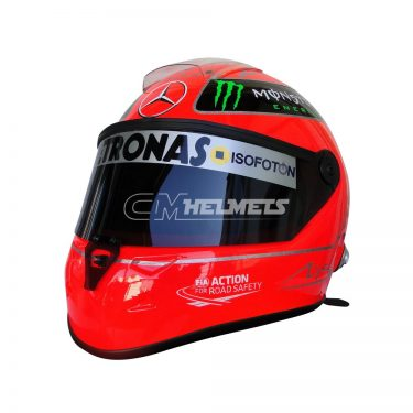 MICHAEL SCHUMACHER 2012 F1 REPLICA HELMET FULL SIZE